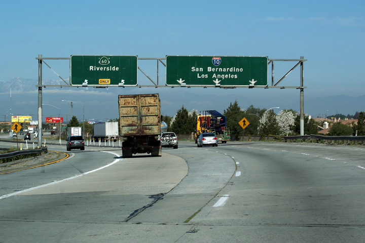 Asphaltplanet california interstate 10 us 60 followed what is now the moreno valley freeway towards riverside and eventually to the east los angeles interchange while us 70 and us 99 continued sciox Choice Image
