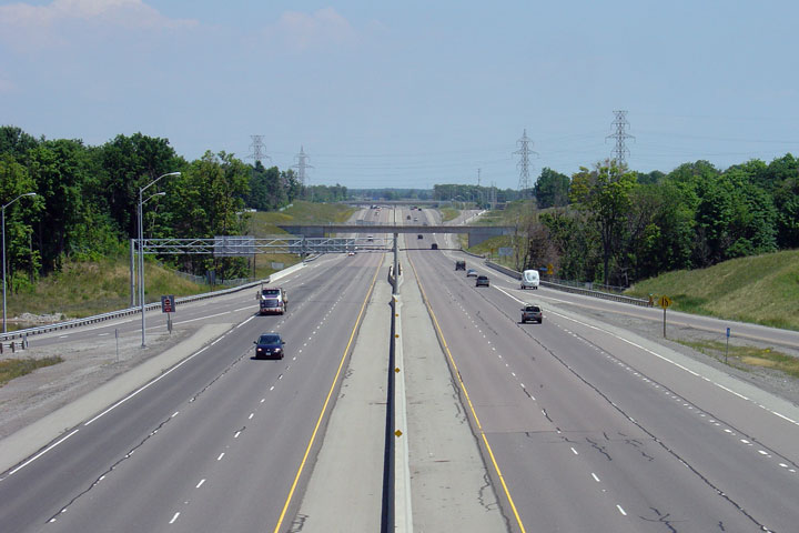 Highway Median Looking east along highway 407Highway Median